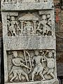 Hero stone with 13th century old Kannada inscription in the Ishwara temple at Arasikere.jpg