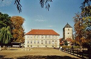 Steuerwald Castle, Hildesheim - Castle keep and Tenant's House.