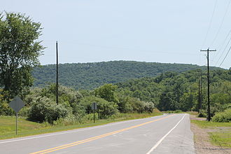 Madison Township, Columbia County, Pennsylvania - Eyersgrove Road and a hill in Madison Township