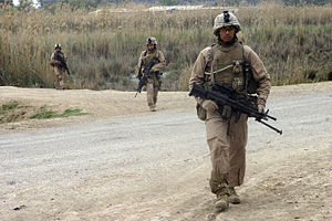 2nd Battalion, 7th Marines - Marines from Company E, 2nd Battalion, 7th Marines patrol in Zaidon, Iraq.