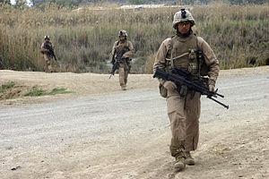2nd Battalion, 7th Marines - Marines from Company E, 2nd Battalion, 7th Marines patrol in Zaidon, Iraq.