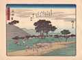 Hiroshige 53 Stations Tokaido Shōno (庄野 46) 東海道五拾三次(狂歌入東海道).png