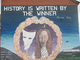 Miriam Daly - History is written by the winner  Mural