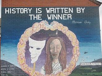 History of Northern Ireland - History is written by the winner.  Mural in West Belfast