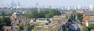 Hither Green - View from Hither Green Lane to City of London