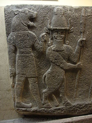 Hittite mythology and religion - Mythological creatures, Lion-headed man and Bull-legged man