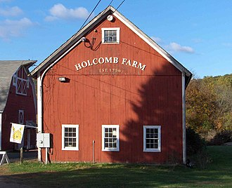 West Granby Historic District - Image: Holcomb Farm in West Granby Historic District
