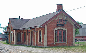 Holly, Michigan - Historic Holly Union Depot, built 1886