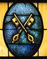 Holy Family Catholic Church (North Baltimore, Ohio) - stained glass, keys.jpg