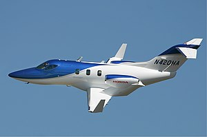 HondaJet performing a demonstration flight at ...