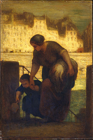 The Laundress (Daumier) - A replica of The Laundress, held at the Metropolitan Museum of Art.