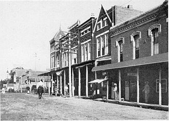 Hope, Arkansas - Street scene in Hope, circa 1904