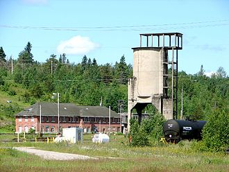 Coaling tower - Image: Hornepayne ON 3