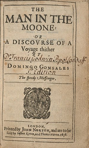 The Man in the Moone - Title page of the first edition