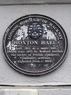 Hoxton hall blue plaque