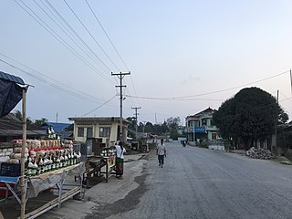Theinni Town in Shan State, Myanmar