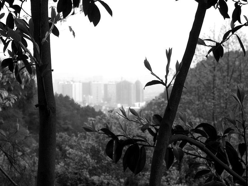File:Huaihua From Zhong Po Mountain.jpg