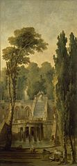 Landscape with a Terrace and Cascade