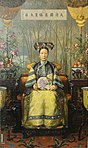 Hubert Vos's painting of the Dowager Empress Cixi (Tzu Hsi).jpg