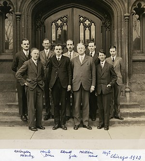 Robert S. Mulliken - Robert Mulliken, Chicago 1929 (third from right)
