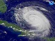 Hurricane Frances near peak strength.
