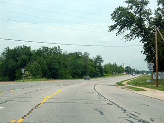 Arkansas Highway 59 - AR 59B southern terminus at AR 59 in Gentry
