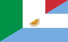 Resultado de imagen para bandera italia argentina png