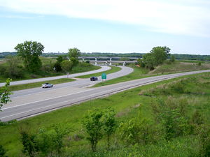 Interstate 35 in Iowa - Exit 68 along I-35 is the northern end of Iowa Highway 5