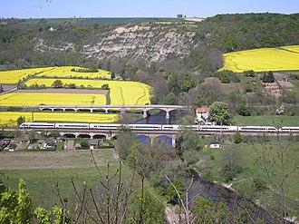 Halle–Bebra railway - Intercity-Express near Saaleck
