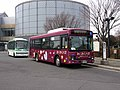 Ichikawa City Community Buses at Chiba Museum of Science and Industry 2019.jpg