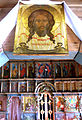 Icon Jesus Christ (not made by hands) and Interior of Dormition Church at Kondopoga.jpg