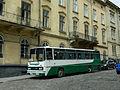 Ikarus 256 from Khmelnytskiy on Lysenka st. Lviv.jpg