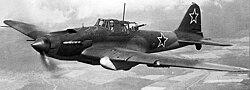 Il–2 csatarepülőgép repülés közben