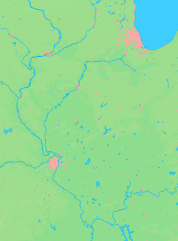 Location of Channel Lake within Illinois