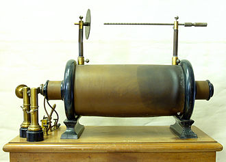 Induction coil - Antique induction coil used in schools, from around 1900, Bremerhaven, Germany