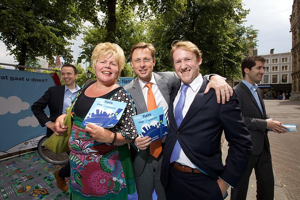 Ineke van Gent, Han ten Broeke en Kees Verhoeven, Lancering Europese Mobiliteitsweek 2010