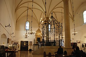 Inside old synagogue Krakow