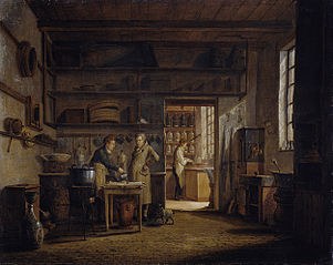 Interior of the Laboratory of the Apothecary A. d'Ailly