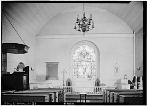 Holy Trinity Church (Old Swedes) - Image: Interior Old Swedes Habs