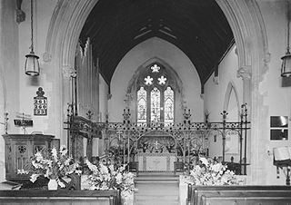 Interior of St. Mary's church, Builth Well