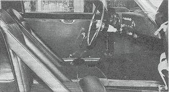 Bandini 1000 GT - The interior of a 1000GT.
