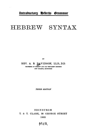 Index:Introductory Hebrew Grammar- Hebrew Syntax (1902).djvu ...