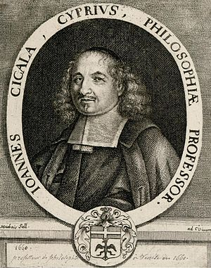 Greek Cypriots - Ioannis Kigalas (1622–1687), Nicosian-born scholar and professor of Philosophy who was largely active in Padova and Venice.