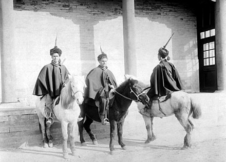 Italian mounted infantry in China during the Boxer Rebellion in 1900 Italian mounted infantry in China 1900 HD-SN-99-01989.jpg
