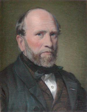 Jørgen Sonne (painter) - Jørgen Sonne. Portrait by Wilhelm Marstrand (1853)