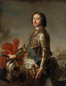 J.-M.  Nattier (d'après) - Porträt von Pierre Ier (Musée de l'Ermitage) .jpg
