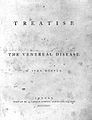 J. Hunter, A treatise on the venereal disease; title page. Wellcome L0002809.jpg