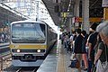 JRE E231-0 series B31 set Chuo-Sobu Line train at Akihabara Station 2017-07-09 (35765940621).jpg