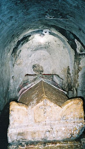 Jacob of Nisibis - Jacob's tomb in the crypt of his church in Nisibis.