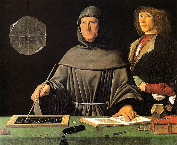 File:Jacopo de' Barbari - Portrait of Fra Luca Pacioli and an Unknown Young Man - WGA1269.jpg